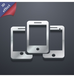 Smartphone widescreen icon symbol 3d style trendy vector