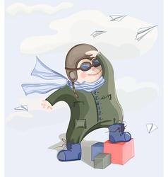 Little pilot boy vector