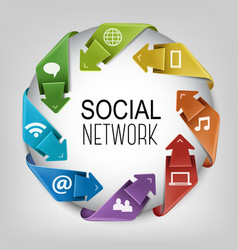 Business social network concept vector