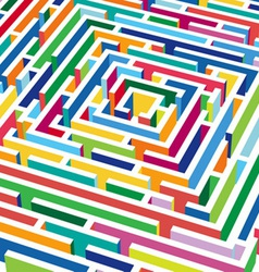 3d labyrinth vector