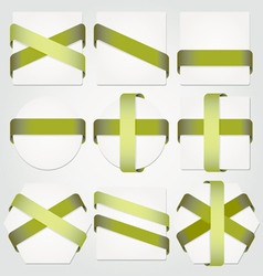 Ribbons stickers and banners set vector