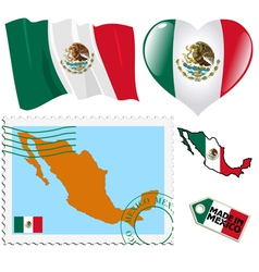 National colours of mexico vector