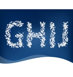 Snow letters for winter design vector
