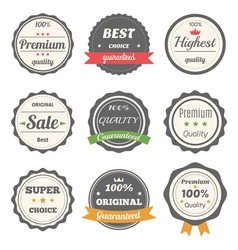 Set of retro labels best choice guaranteed vector
