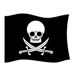 Pirate flag design vector