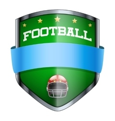 Football shield badge vector
