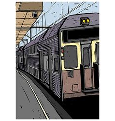 Train platform background vector