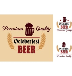 Retro beer label or emblem vector
