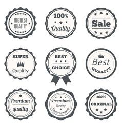 Vintage badges best choice premium quality highest vector