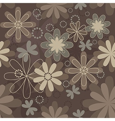 Vintage art flower vector