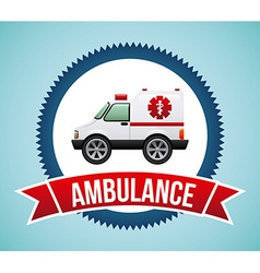 Ambulance design vector