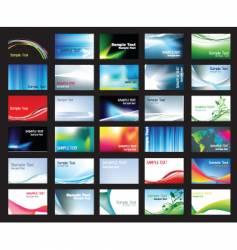 Business card templates vector