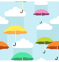 Pattern rain color vector