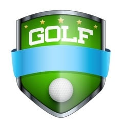 Golf shield badge vector