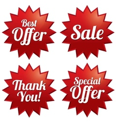 Sale best offer special offer thank you tags vector