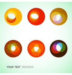 Color round abstract forms eps10 vector