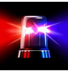 Red and blue emergency flashing siren vector