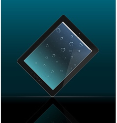 Tablet pc on dark background vector