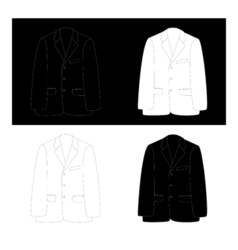 Black and white business suit vector