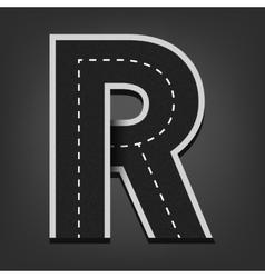 R letter road font vector