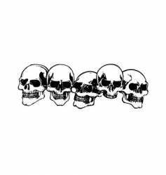 Skulls illustration vector