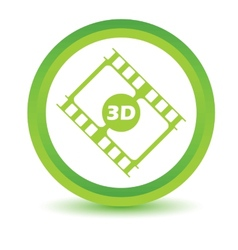 Green 3d film icon vector