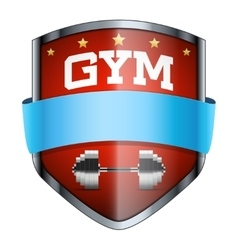 Gym shield badge vector