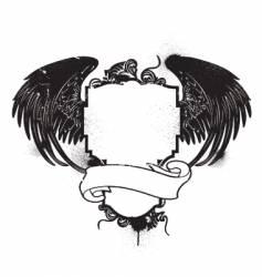 Grunge crest vector