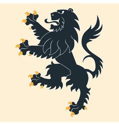 Heraldic lion 25 vector