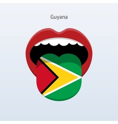 Guyana language abstract human tongue vector