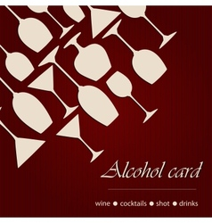 Template of a alcohol card vector