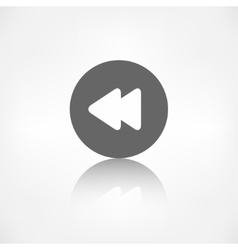 Reverse or rewind icon media player vector