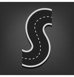 S letter road font vector