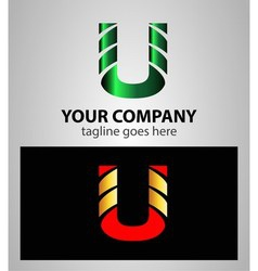 Letter u logo symbol design template elements vector
