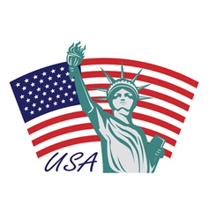 Statue liberty usa vector