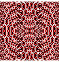Design seamless distorted hexagon pattern vector