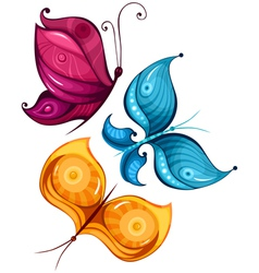 Butterfly set vector