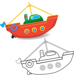 Boat toy vector