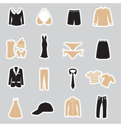 Clothing stickers set eps10 vector