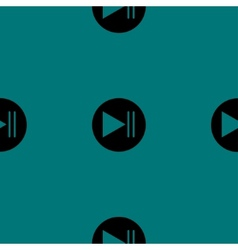 Play button web icon flat design seamless pattern vector