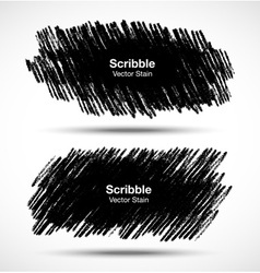Set of scribble stains hand drawn in pencil vector