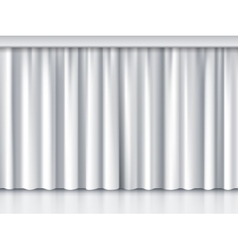 White stage curtain vector