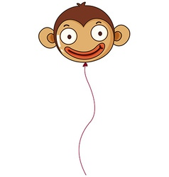A monkey balloon vector