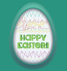 Easter egg greeting card vector
