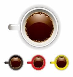 Coffee cup top vector