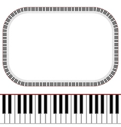 Piano keys frame vector