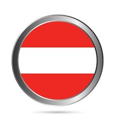Austria flag button vector