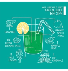 Green juice recipes great detoxifier vector
