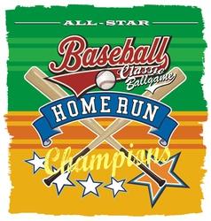 Homerun baseball champ vector