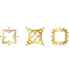 Gold pattern symbols vector